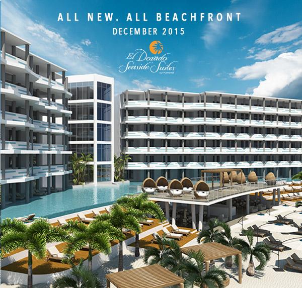 All new. All beachfront. November 2015. El Dorado Seaside Suites by Karisma